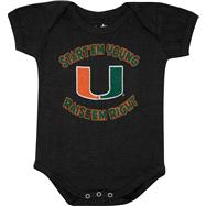 Miami Hurricanes Newborn / Infant Black Start Em' Young Creeper