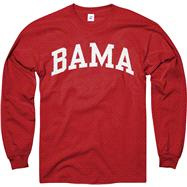 Alabama Crimson Tide Crimson Bama Arch Long Sleeve T-Shirt