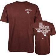 Texas A&M Aggies Maroon adidas Fight Fight Fight T-Shirt