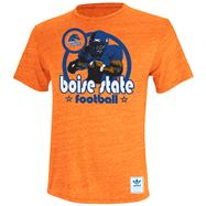 Boise State Broncos Heather Orange adidas Originals Iron Heat Gridiron Tri-Blend T-Shirt
