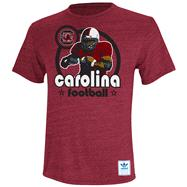 South Carolina Gamecocks Heather Cardinal adidas Originals Iron Heat Gridiron Tri-Blend T-Shirt