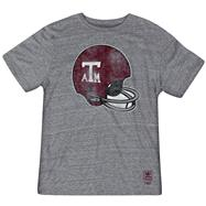 Texas A&M Aggies Heather Grey adidas Originals Big Retro Helmet Tri-Blend T-Shirt