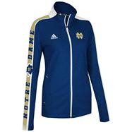 Notre Dame Fighting Irish Women's Navy adidas 2012 Football Sideline Swagger Warm Up Full-Zip Jacket