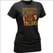 USC Trojans Women's Black Fight On Tommy Tri-Blend T-Shirt