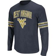 West Virginia Mountaineers Navy Tackle Long Sleeve Slub Knit T-Shirt