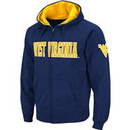 West Virginia Mountaineers Navy Twill Tailgate Full-Zip Hooded Sweatshirt