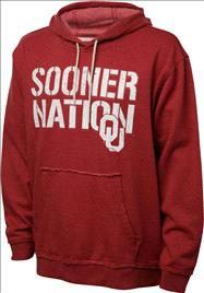 Oklahoma Sooners Cardinal Heather Campus Cheer Hooded Sweatshirt