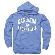 North Carolina Tar Heels Light Blue Reversal Basketball Hooded Sweatshirt