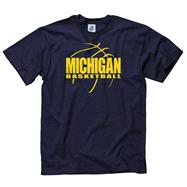 Michigan Wolverines Navy Primetime Basketball T-Shirt