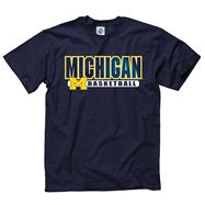 Michigan Wolverines Navy Show Thru Basketball T-Shirt
