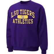 LSU Tigers Purple Piller Crewneck Sweatshirt