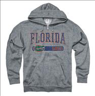 Florida Gators Heather Grey Bridge Ring Spun Full-Zip Hooded Sweatshirt
