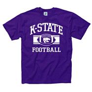 Kansas State Wildcats Purple Wide Stripe Football T-Shirt