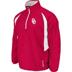Oklahoma Sooners Cardinal Adrenaline 1/4 Zip Long Sleeve T-Shirt