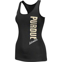 Purdue Boilermakers Black Women's Essential Fitness Tank Top
