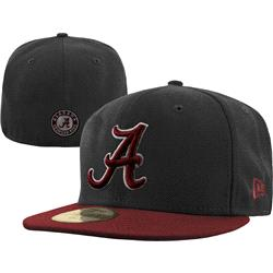 Alabama Crimson Tide New Era Graphite/Crimson 59FIFTY Fitted Hat