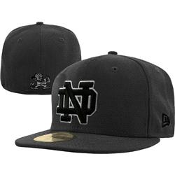 Notre Dame Fighting Irish New Era Black 59FIFTY Fitted Hat