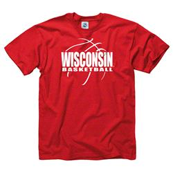 Wisconsin Badgers Red Youth Primetime Basketball T-Shirt