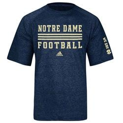 Notre Dame Fighting Irish Heather Navy adidas 2013 Football Sideline Evade ClimaLite T-Shirt