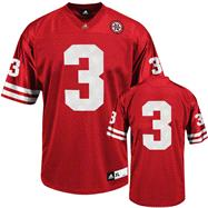 Nebraska Cornhuskers Football Jersey: adidas #3 Red Replica Football Jersey