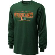 Miami Hurricanes Green Forever Team Long Sleeve T-Shirt