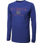 Florida Gators Royal Time Out Screen Print Long Sleeve Thermal Shirt