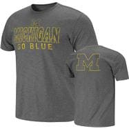 Michigan Wolverines Charcoal Harley Slub Knit T-Shirt