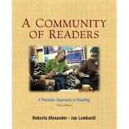 Community of Readers, A: A Thematic Approach to Reading
