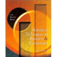 Statistical Techniques in Business and Economics W/ Student CD and PowerWeb