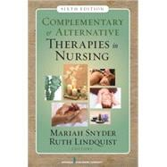 Complementary and Alternative Therapies in Nursing,9780826124289