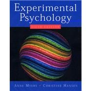 Experimental Psychology,9780534634414