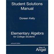 Elementary Algebra for College Students STUDENT SOLUTIONS MANUAL, 7/e,9780131994584