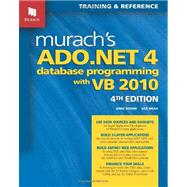 Murach's Ado.Net 4 Database Programming with VB 2010, 9781890774622