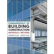 Fundamentals of Building Construction : Materials and Method..., 9780470074688  