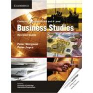 Cambridge International As and a Level Business Studies Revision Guide,9781107604773