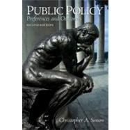 Public Policy : Preferences and Outcomes,9780205744824