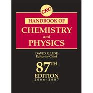 CRC Handbook of Chemistry and Physics, 87th Edition, 9780849304873