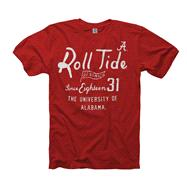 Alabama Crimson Tide Crimson Pennant Ring Spun T-Shirt