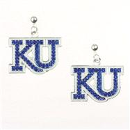 Kansas Jayhawks Rhinestone Earrings