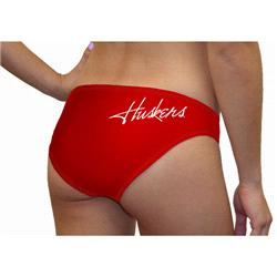 Nebraska Cornhuskers Women's Team Color Swim Suit Bottom