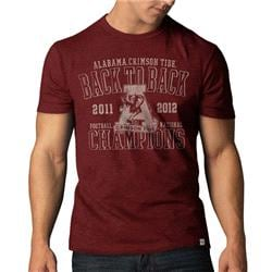 Alabama Crimson Tide '47 Brand Red Back-to-Back 2012 BCS Football National Champions Scrum T-Shirt