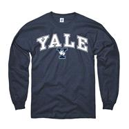 Yale Bulldogs Youth Navy Perennial II Long Sleeve T-Shirt