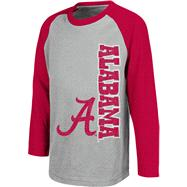 Alabama Crimson Tide Black Kids 4-7 Warrior Long Sleeve T-Shirt