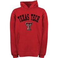 Texas Tech Red Raiders Youth Red Tackle Twill Hooded Sweatshirt
