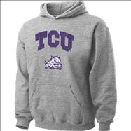 TCU Horned Frogs Youth Grey Tackle Twill Hooded Sweatshirt