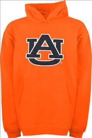 Auburn Tigers Youth Orange Tackle Twill Hooded Sweatshirt