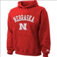 Nebraska Cornhuskers Kids 4-7 Red Tackle Twill Hooded Sweatshirt