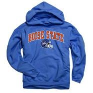 Boise State Broncos Youth Royal Football Helmet Hooded Sweatshirt