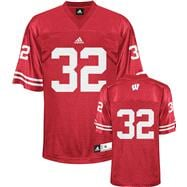 Wisconsin Badgers Football Jersey: adidas #32 Red Replica Football Jersey