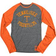 Tennessee Volunteers Dark Heathered Black adidas Originals Gym Class Tri-Blend Long Sleeve Tee